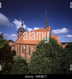 Rendsburg, St. Marien, Blick von Süden - Stock Photo