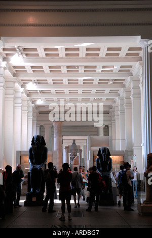 Egyptian exhibits on display in the British Museum Bloomsbury London - Stock Photo