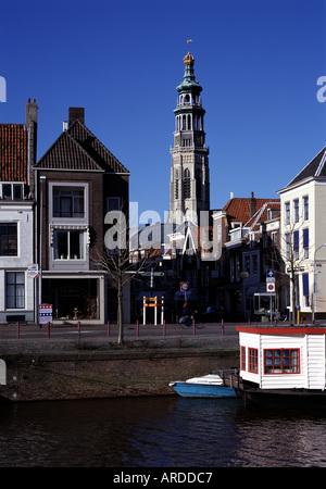 Middelburg, Stadtansicht, Blick über den Binnenhafen - Stock Photo
