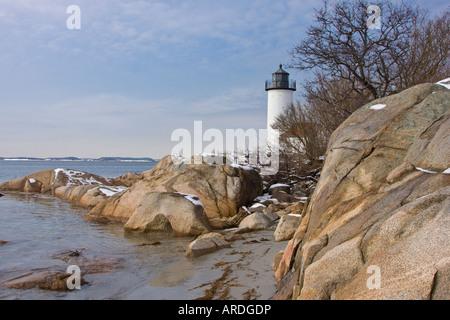 Annisquam Lighthouse, Gloucester, Massachusetts - Stock Photo