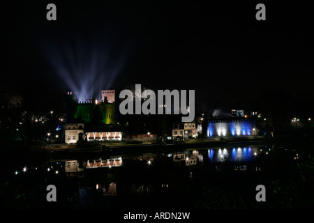 Valentine castle in Turin during 'Luci d'Artista 2007/08' - Stock Photo