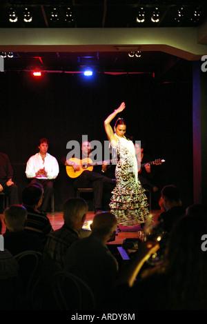 Flamenco dancer, Las Tablas club, Madrid, Spain - Stock Photo