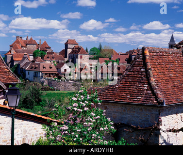 Loubressac in the Quercy Lot France - Stock Photo