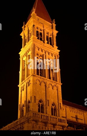 Croatia. Trogir. Cathedral tower - Stock Photo