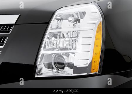 2007 Cadillac Escalade ESV in Black - Front seats Stock Photo ... on escalade led headlights, escalade on 28s, escalade grill, escalade led lights for an inner,