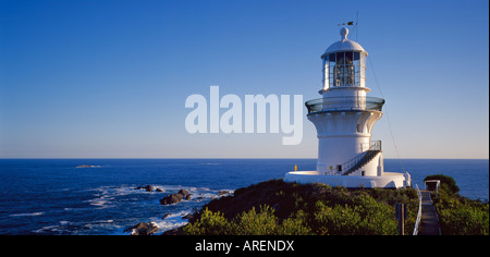 Sugarloaf Point Lighthouse Seal Rocks Myall Lakes National Park New South Wales Australia - Stock Photo
