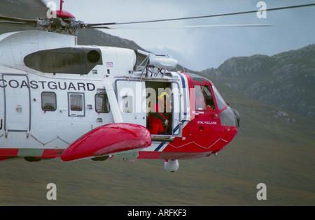 Coastguard rescue helicopter - Stock Photo