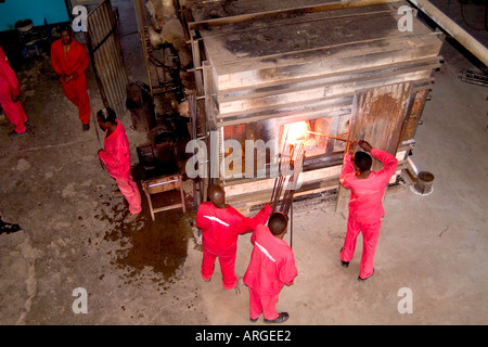 Glass Blowing Factory in Swaziland at Ngwenya Glass Company - Stock Photo