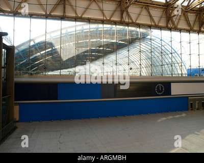 The former Eurostar Terminal at Waterloo closes until after November 2008 - Stock Photo