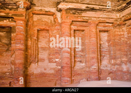 Trindinum, spectacular coloured, texture, layers and stripes, Petra, Hashemite Kingdom of Jordan, Middle East. DSC - Stock Photo