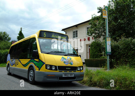 Community Public Bus Services Dial a Ride CANGO Nr Andover Hampshire Southern England UK - Stock Photo