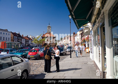 Yarm High Street Yorkshire Market Town now part of Stockton on Tees Cleveland - Stock Photo