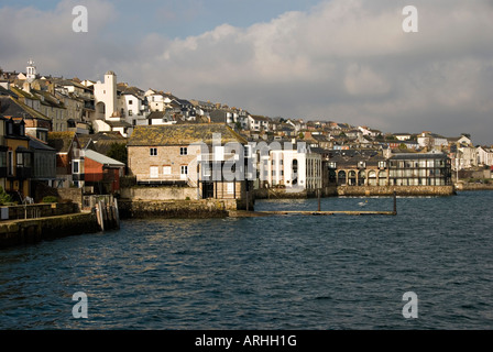 Falmouth, Cornwall, UK. The town, from Prince of Wales Pier - Stock Photo