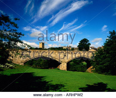 Bridge Castle tower Richmond Yorkshire Dales National Park - Stock Photo