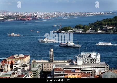 CITY OF ISTANBUL BOSPHORUS TURKEY - Stock Photo