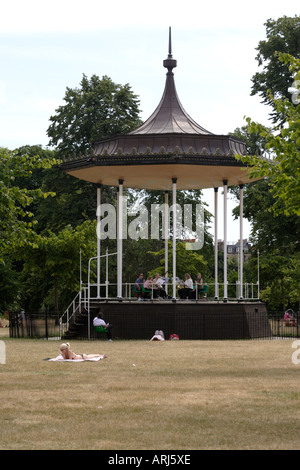 Pagoda at Kensington Gardens London - Stock Photo