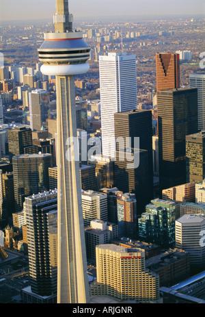 CN Tower and skyline of Toronto, Ontario, Canada - Stock Photo