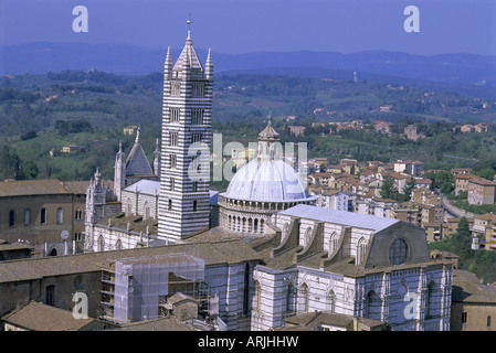 The Duomo (Cathedral), Siena, UNESCO World Heritage Site, Tuscany, Italy, Europe - Stock Photo