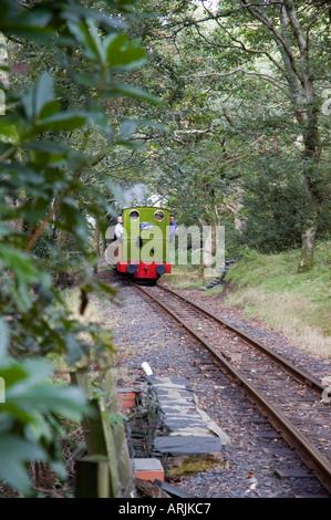Talyllyn Railway - The Quarryman engine at Dolgoch - Stock Photo