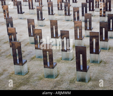 Field of Empty Chairs at the Oklahoma City National Memorial - Stock Photo