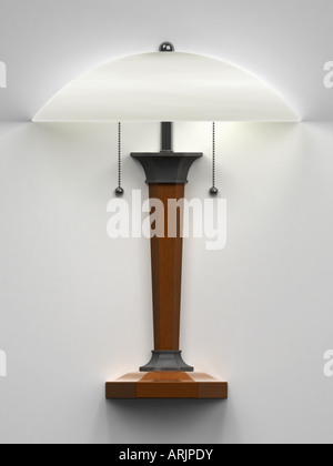 Table lamp on the wall - Stock Photo