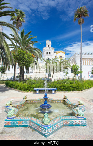 Plaza Santa Maria, Tarifa, Costa de la Luz, Cadiz Province, Andalucia (Andalusia), Spain, Europe - Stock Photo