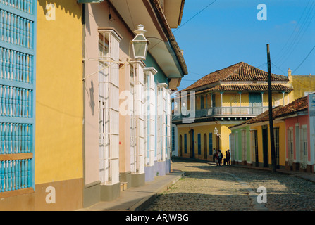 Street in the colonial town, Trinidad, Sancti Spiritus, Cuba - Stock Photo