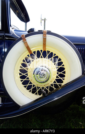 white wall tyre on chrysler model cm stock photo
