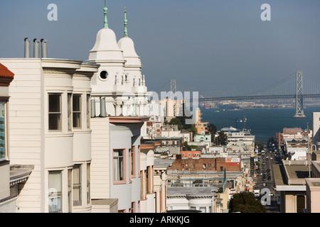 View to Bay Bridge, San Francisco, California, United States of America, North America - Stock Photo
