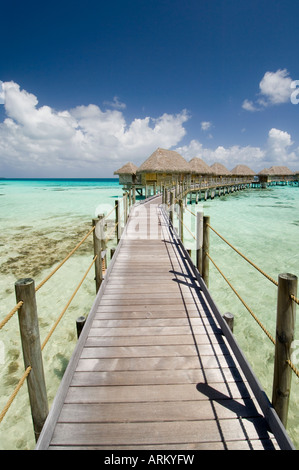 Pearl Beach Resort, Tikehau, Tuamotu Archipelago, French Polynesia, Pacific Islands, Pacific - Stock Photo
