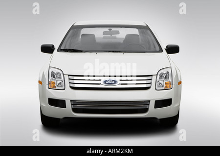 2008 Ford Fusion S in White - Low/Wide Front - Stock Photo