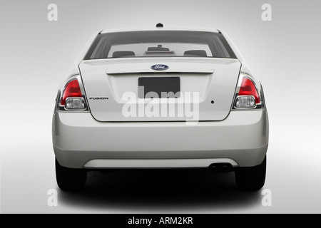 2008 Ford Fusion S in White - Low/Wide Rear - Stock Photo