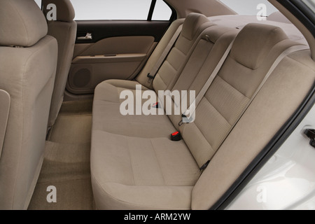 2008 Ford Fusion S in White - Rear seats - Stock Photo