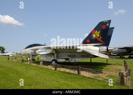 Grumman F 14 B Tomcat jet fighter at the Grissom Air Museum outside of Grissom Air Force Base Indiana IN - Stock Photo