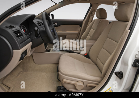 2008 Ford Fusion S in White - Front seats - Stock Photo