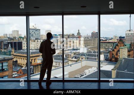 Skyline of city centre, Glasgow, Scotland, United Kingdom, Europe - Stock Photo