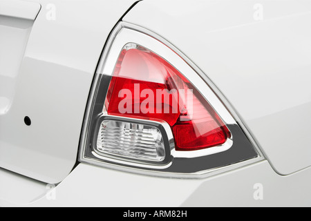 2008 Ford Fusion S in White - Tail light - Stock Photo
