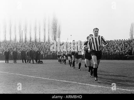 football, Regionalliga West, 1965/1966, Jahn Stadium in Bottrop, VfB Bottrop versus Rot-Weiss Essen 0:2, the Bottrop - Stock Photo