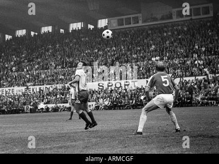 football, Regionalliga 1968/1969, promotion match to the Bundesliga 1969/1970, Rot-Weiss Essen versus VfL Osnabrueck - Stock Photo
