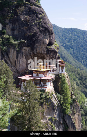 Taktshang Goemba (Tiger's Nest) Monastery, Paro, Bhutan, Asia - Stock Photo
