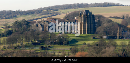Lancing College School and chapel - Stock Photo