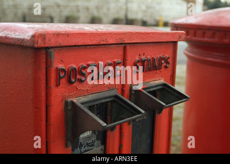 old postage stamp dispensing machine Windsor Berkshire England UK - Stock Photo