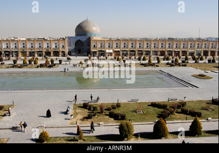 Naghsh i Jahan Square the 2nd largest square in the world Isfahan Iran - Stock Photo