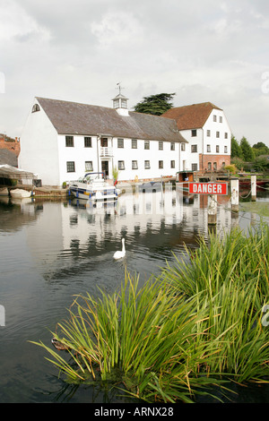 Hambleden Mill at Hambleden Lock on the River Thames in England - Stock Photo