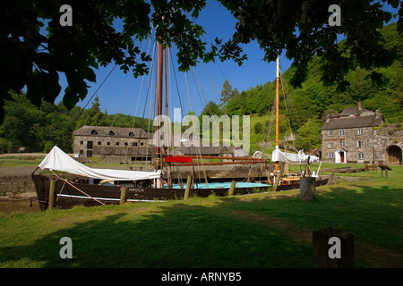 Cotehele Quay in the Tamar Valley, Cornwall, UK - Stock Photo