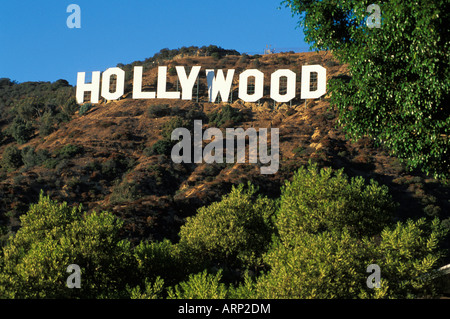 USA, California, Los Angeles, Hollywood Sign - Stock Photo
