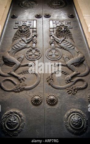 Doors Of The Bank Of England, London - Stock Photo