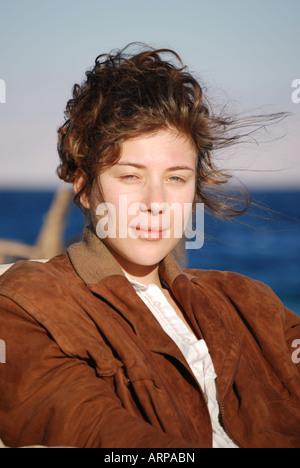 Portrait of young woman,  Nuweiba, Sinai Peninsula, Republic of Egypt - Stock Photo