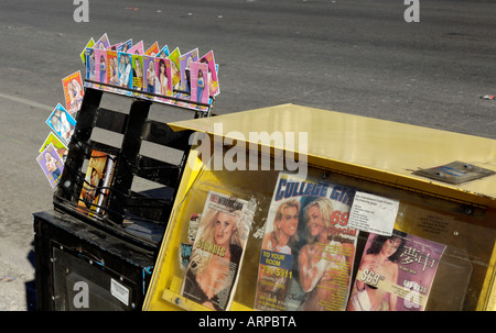 A News Stand on the Strip in Las Vegas, Nevada - Stock Photo