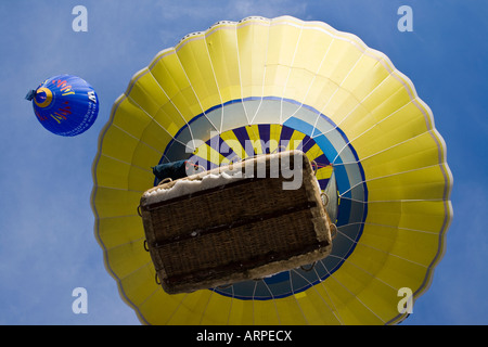 Hot Air Balloons Festival at Chateau d Oex - Stock Photo